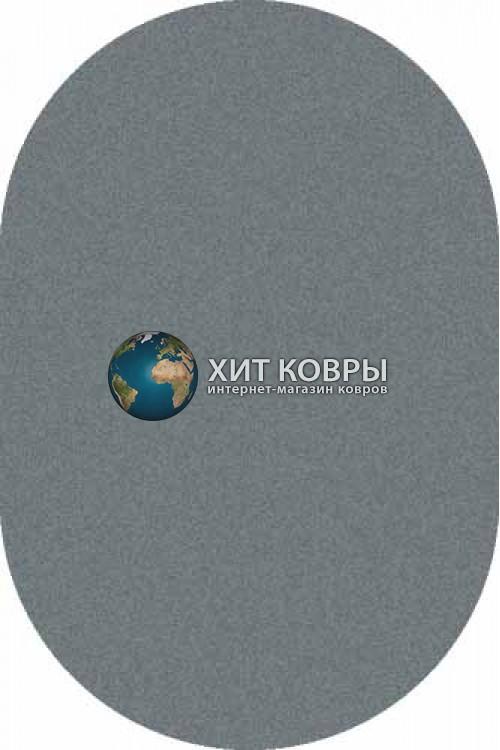 Российский ковер  овальный Platinum t600 голубой