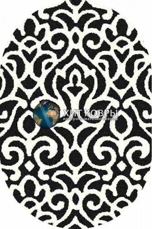Российский ковер  овальный Platinum t627 черный